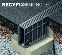 New monolithic Drainage system RECYFIX MONOTEC