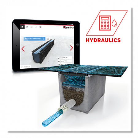 Hydraulic calculation for drainage systems