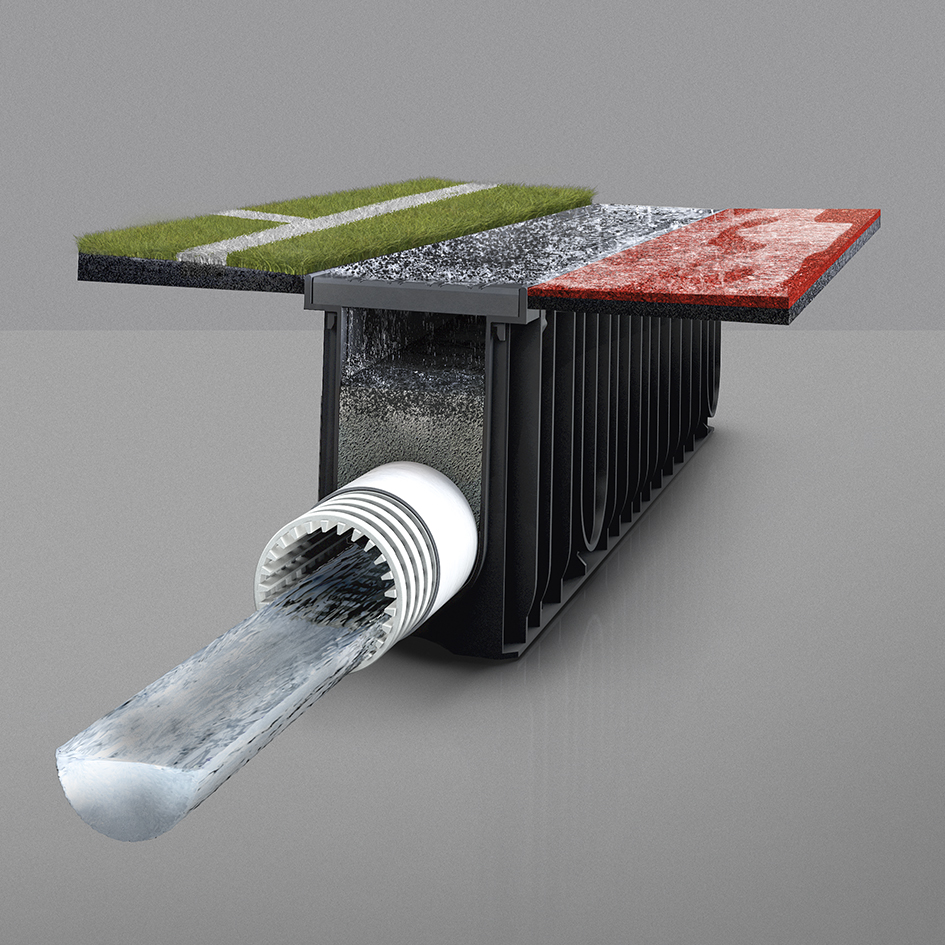 Surface filtration with SPORTFIX CLEAN channel retains microplastic particles