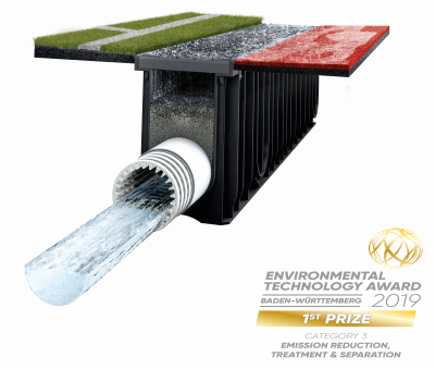 The filter system SPORTFIX CLEAN has won the Environmental Technology Award Baden-Württemberg 2019