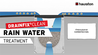Rainwater treatment with DRAINFIX® CLEAN